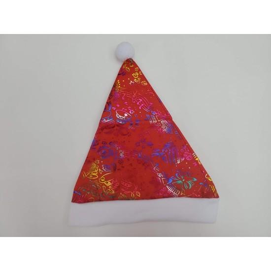 Pattern-printed Christmas hat