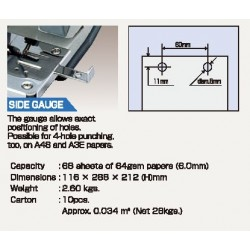 OPEN PU-808 2-hole punch(66sheets of 64gsm papers)