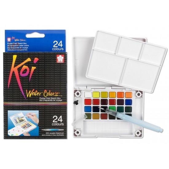 Sakura Koi Water Color Field Sketch Kit 24 colors