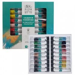 Winsor & Newton Junior Acrylic Colour 18 tubes set-10ml