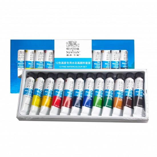 Winsor & Newton Watercolour 12 tubes set-10ml