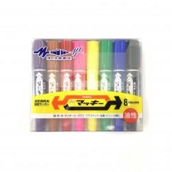 Zebra  two side pen 8 colors MC-8C