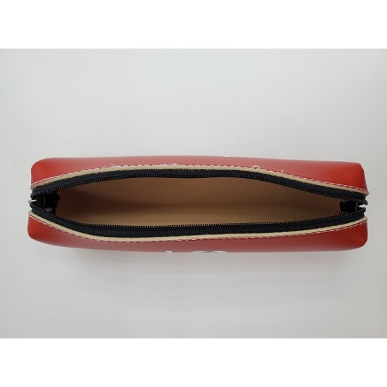 London Artificial Leather-Made Long Pencil Case