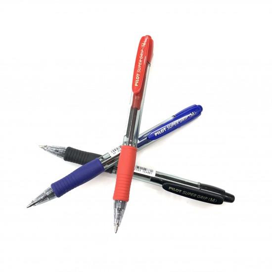 Pilot - BPGP-10R-M - Super-Grip Ball Pen 1.0mm