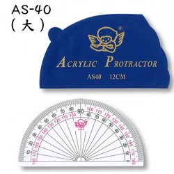 ANGEL AS-40 12CM Acrylic Protractor