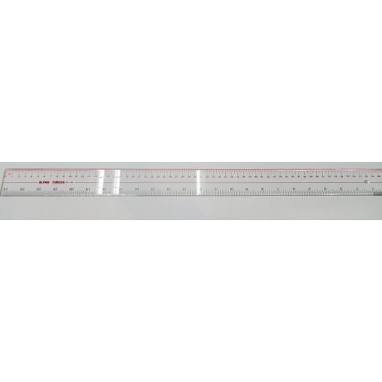 Alpha Omega 24 inches (60cm) Clear Plastic Ruler (1 set -6pc)
