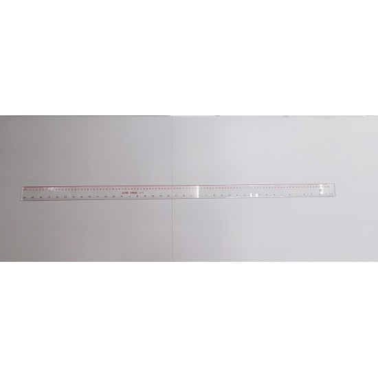 Alpha Omega 40 inches (100cm) Clear Plastic Ruler