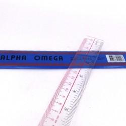 Alpha Omega plastic ruler