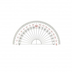 ANGEL AS-35 10CM Acrylic Protractor