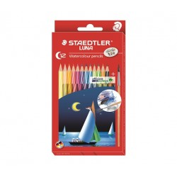 STAEDTLER LUNA 137 Cardboard box containing 12 assorted colours
