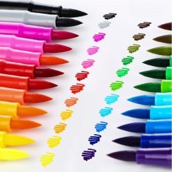 Deli Soft Head Watercolor Pen Children Painting Pen Set-Washing 24 Color