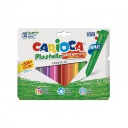Carioca Plastello Colouring Crayons Round (Set 10+2)