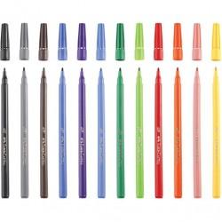 Faber-Castell Fibre Tip Colouring  Marker Pens 12 Pack