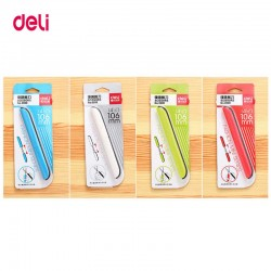 Deli 0600 portable scissors paper-cutting folding safety scissors
