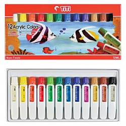 Acrylic Color AC-12ML-12 (12 Colors)