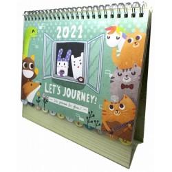 Kelvincollections 2021  Let's Journey Desk Calendar
