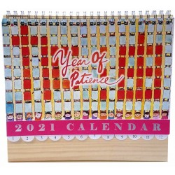 Kelvincollections 2021 Year of patience Cheer up Desk Calendar