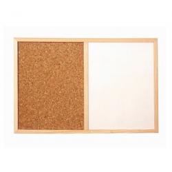Easymate 46MBWF Woodframe Corkboard and white broad (40cmx60cm)