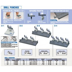 OPEN D-2 2-Hole Drill punch (156sheets of 64 gsm papers)