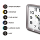 Hopewell AN-56S Sweep Alarm Clock   Flash Alarm