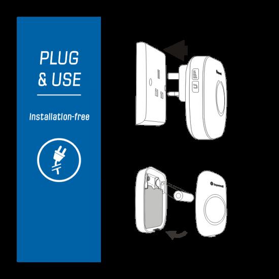 Hopewell 300m ULTRA Plug-In Wireless Doorbell