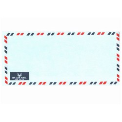 "Airmail Envelopes with side opening 4x9"" (20pcs/pack)"