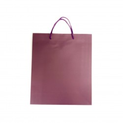 Maroon kraft paper bag