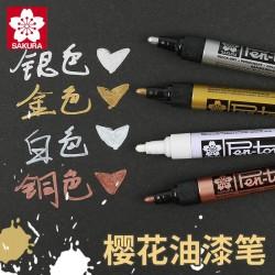 """Sakura"" Cherry Blossom Gold/Silver/Bronze/White Paint Oil Pen 0.7mm"